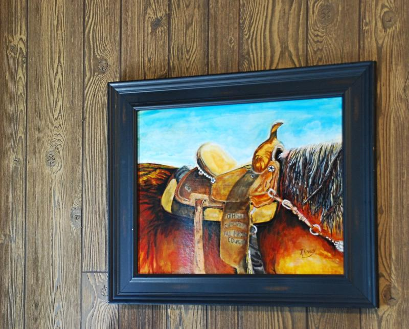 Cowgirl Saddle Framed